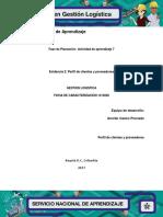 Evidencia 2 Perfil de Clientes y Proveedores