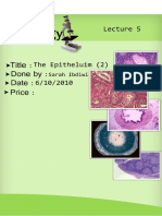 Histology, Lecture 5, The Epitheluim (2) [Lecture notes]