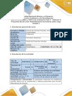 Guía de Actividades y Rúbrica de Evaluación - Fase 3 - Elaborar La Propuesta Social y Leer Detenidamente Las Lecturas Sobre Zopp-..