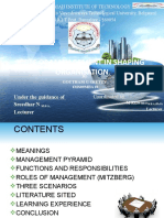 Role of Management in Shaping on