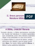 Breve Panorama Da Literatura Bíblica