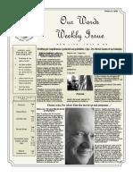 Newsletter Volume 9 Issue 33