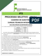 Ensino Técnico Integrado 2017-2 (Prova)