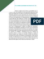Apreciación Crítica Sobre El Régimen de Incentivos y de Gradualidad