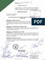 Proyecto de Ley N° 3199, que declara el 20 de enero como el Día Nacional de la Tunantada