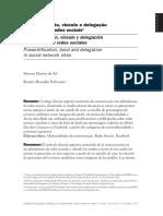 Presentificação, Vínculo e Delegação Nos Sites de Redes Sociais