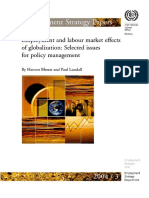Employment and Labour Market Effects of Globalization