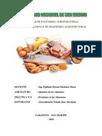 Proteinas en los alimentos