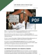 08/Octubre/2018 En Sonora se desató debate sobre el aborto legal
