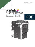 Bizhub c203 c253 c353 Um Copy Operations 1-1-1 Es