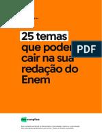 Ebook com os 25 possíveis temas para a redação do ENEM 2018.pdf
