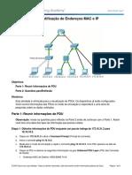 Packet Tracer - Identificação de Endereços MAC e IP