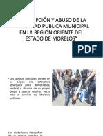Corrupción y Abuso de La Seguridad Publica