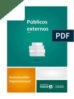 Publicos externos