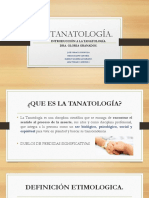 Introduccion a La Tanatologia