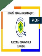 Cover Rencana Pelaksaan Kegiatan 2018
