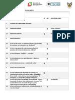 Checklist Iluminacion(Baño Mujeres)