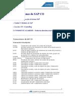 Documento Transacciones de SAP CO