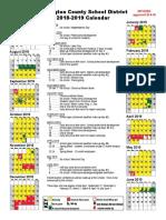 2018-19 DCSD Calendar- Revised 10-8-18