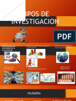 Tipos de Investigacion y Ciencia y Filosofia