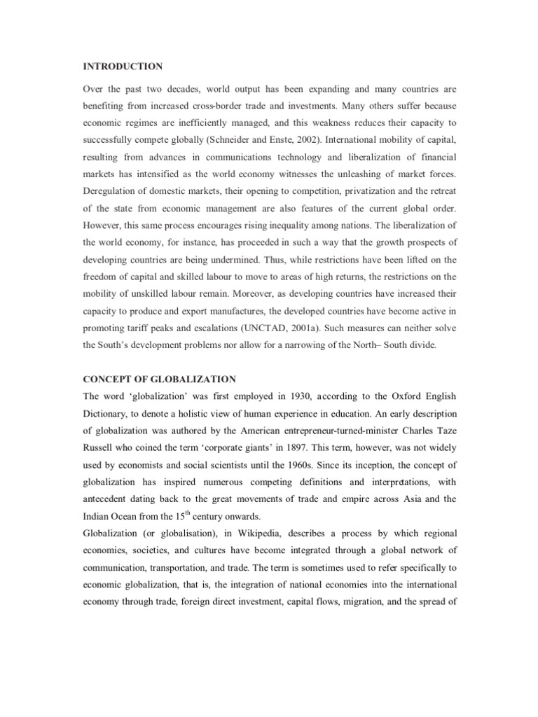 essay about globalization essays on globalization the impact of  the impact of globalization on economic development of developing the impact of globalization on economic development