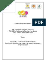 """Sexualidad y embarazo en adolescentes """"Planificación familiar, una manera de prevenir embarazo a temprana edad"""" - Ulises Alejandro León Cruz.pdf"""