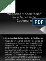 Velocidad y Aceleración en El Movimiento Coplanario