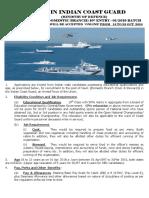 Indian Coast Guard Notification