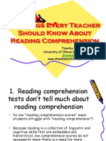 10 Things Every Teacher Should Know About Comprehension