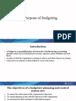C.1. Purpose of Budgeting