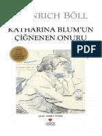 Heinrich Boell - Katharina Blumun Cignenen Onuru