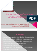 Final Understanding Consumers and Market Segments (Haider and Tayyeba)