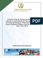 Instructivo Final Proceso Oposicion