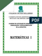 Cuaderno de Actividades Matematicas 1