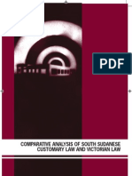 Comparative Analysis of South Sudanese Customary Law & Victorian Law