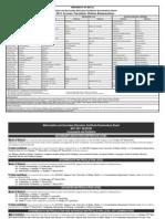 Timetable 2011