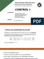 Control i - Estabilidad Routh