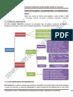Tema 1. Conocimiento Del Léxico Mediante La Composición, Derivación, Parasíntesis y Acronimia