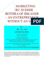 THE MARKETING GURU SUDHIR BOTHRA OF BIKANER – AN ENTREPRENEUR WITHOUT AN MBA