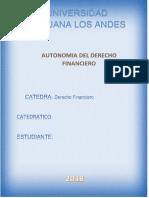 Derecho Financiero Autonomia D.F.