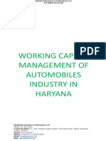 WORKING CAPITAL MANAGEMENT OF AUTOMOBILES INDUSTRY IN HARYANA.doc