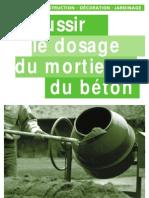 Réussir le dosage du mortier et du béton