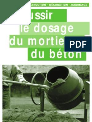 Réussir Le Dosage Du Mortier Et Du Béton Mortier Matériau