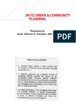 What is Planning (Urban Planning)