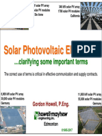 Solar Photovoltaic Electricity -- Important Terms Clarified --V3