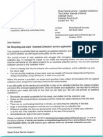 Street Scene Assisted Collection Application Letter - October 2018