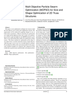 Multi Objective Particle Swarm Optimization for Size and Shape Optimization of 2D Truss Structures