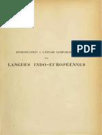 Meillet - 1903 - Introduction à l'Étude Comparative Des Langues Ind