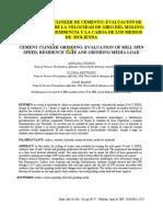 Molienda de Clinker de Cemento Evaluación De