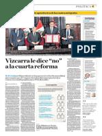 Vizcarra Le Dice No a La Cuarta Reforma